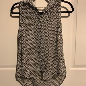Tops - Black and white tank top blouse from H&M